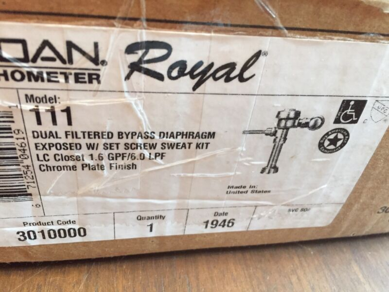 SLOAN FLUSHOMETER ROYAL 111-1.28 Complete Water Closet Flushometer
