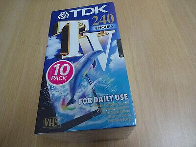 lot de 5 K7 VHS TDK 240 min
