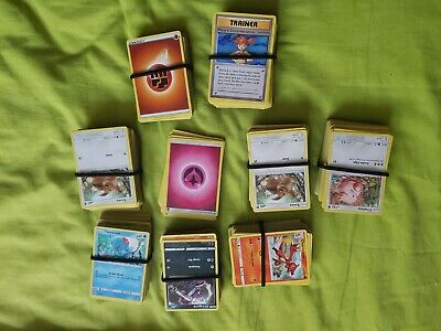 Large lot pokemon cards bundle bulk joblot with 4 tins and 2 jumbo cards 700+