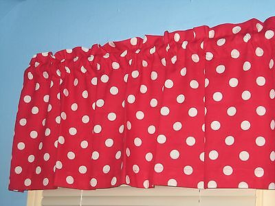 Red Polka Dots (White Polka dots on Red Handmade Cotton Window)