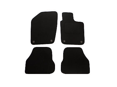VW Polo Floor Mats 4 Piece Tailored Fitted Black Carpet Car Mat Set (2009 on)