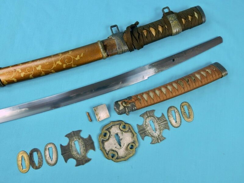 Japanese Japan WW2 Signed Tachi Katana Sword w/ Scabbard