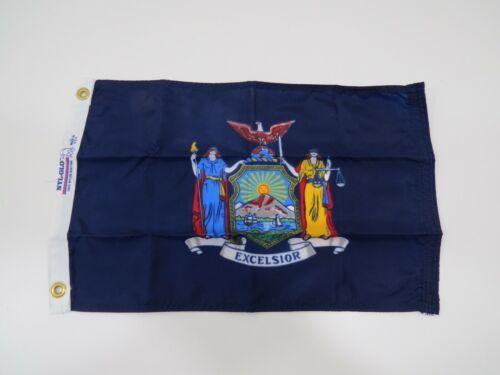 """New 12 inch x 18 inch Nyl-Glo """"NEW YORK""""  Flag Pennant (C2.5B387A)"""
