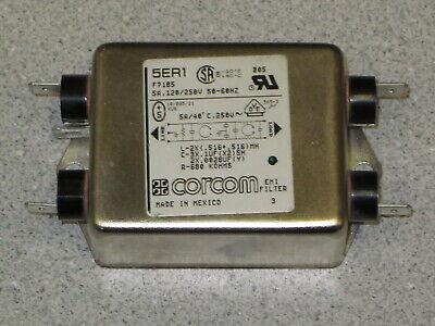 Corcom 5ER1 RFI/EMI Power Line Filter 5 Amps @ 120/250 Volts 50-60 Hz Corcom Rfi Filter