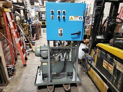 Hydraulic Power Unit 7.5 Hp 3000 Psi 7.8 Gpm Heat Exchanger Parker Pump