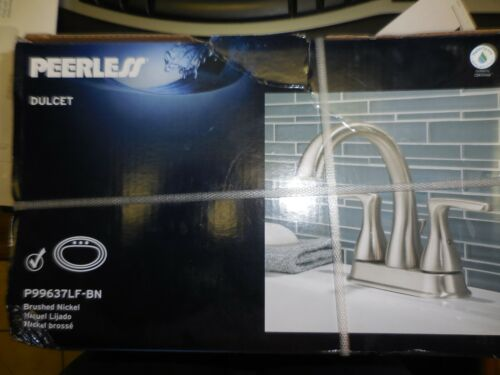 "Peerless Dulcet Brushed Nickel 2 Handle 4"" Centerset Bathroom Faucet"