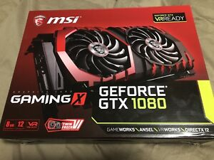 MSI GamingX GeForce GTX 1080 video card 4K 8GB