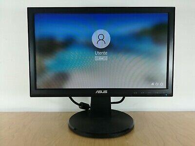 "Monitor schermo per PC desktop ASUS VW161D LCD 15.6"" VGA Windows 7 10 Mac Linux"