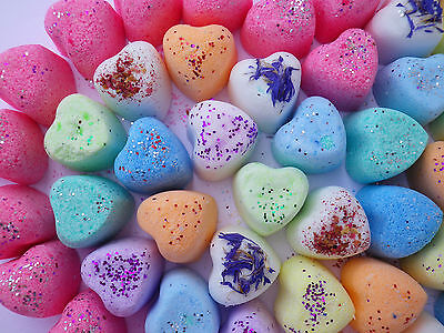 100 LUSH Smelling Mini Heart Bath Bombs Fizzy Special Offer ONLY £12.99