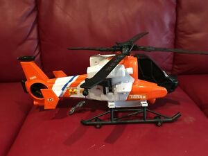 Helicopter with batteries
