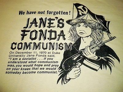 Jane's Fonda Communism Vintage Shirt ( Used Size L ) Vintage Condition!!!