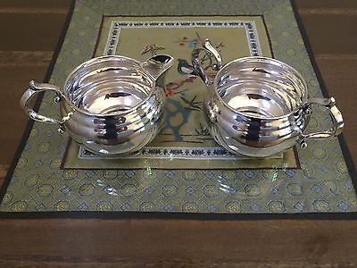 Gorham Sterling Silver Cream & Sugar Bowl Set No Mono