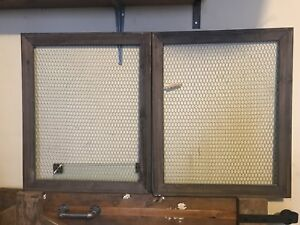 Two mashes with rustic wood frame display