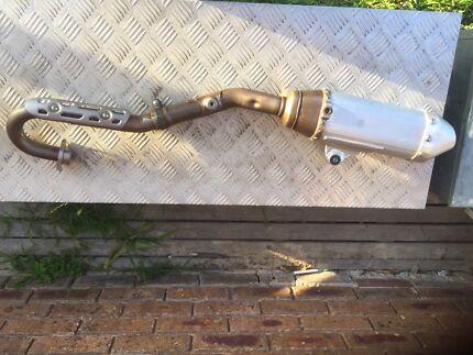 Rmx450z pipe & muffler