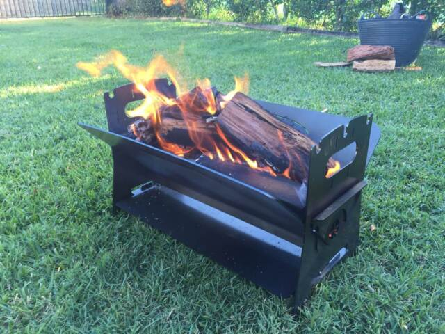 Fire Pit Portable Flat Pack 4wd Camping Other Home