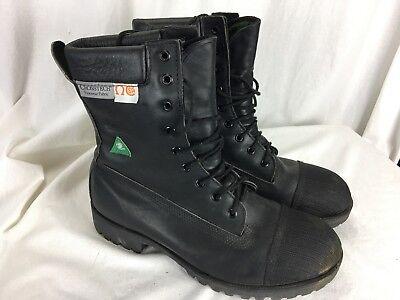 Black Diamond Sz 8 Leather Firefighter Safety Fireman Boots 270-0971 Crosstech