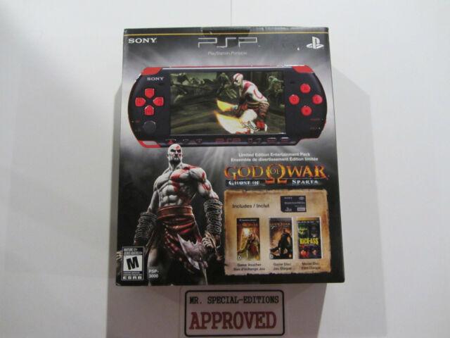 Sony PSP 3000 God of War Entertainment Pack Red & Black Handheld System NEW