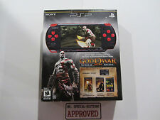 Sony PSP 3000 God of War Entertainment Pack Red & Black Handheld System NEW
