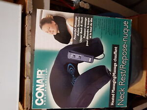 Heated remote neck collar, vibrates two different speeds