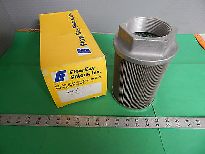 PASS10 1 30 All Stainless Steel Suction Strainer with Nylon Connector End Flow Ezy Filters 10 GPM 30 Mesh Size 1 Female NPT 1 Female NPT Inc