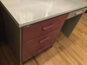 Purple desk- available