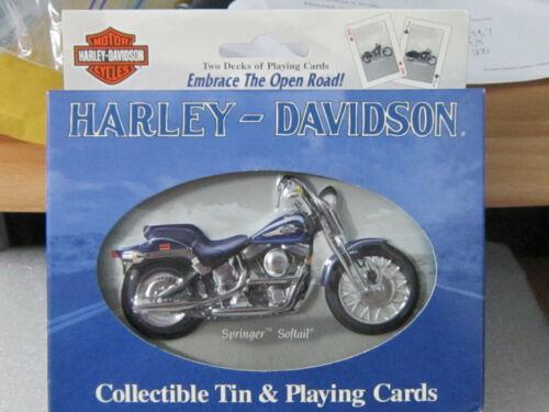 Harley Davidson Playing Cards Tin 2 Sealed Decks