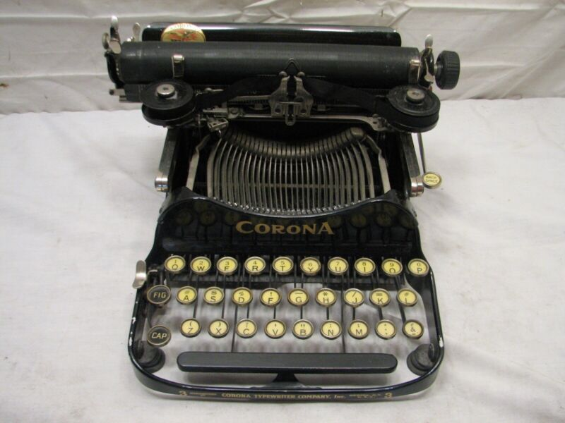 Clean Antique 1923 Corona 3 Three (Pre-Smith) Portable Folding Typewriter