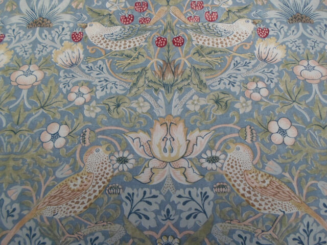 William Morris & Co Curtain Fabric Strawberry Thief 2 Metres Duck ...