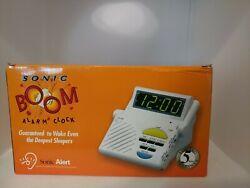 Model SB-1000-V3 Sonic Boom Alert Alarm Clock Bed Vibrator