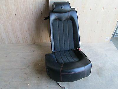 Maserati Quattroporte - RH / Rear Seat w/ Rails / Guides  - Black - Red Stitch