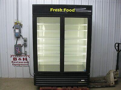True Gdm-49 Glass Two 2 Door Merchandiser Reach In Cooler Refrigerator