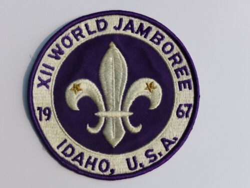 Used Original 1967 XII World Jamboree Idaho USA Boy Scout BSA Jacket Back Patch