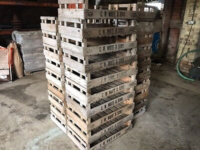 Vintage wooden Fruit And vegetable crates Boxes Good Clean Condition