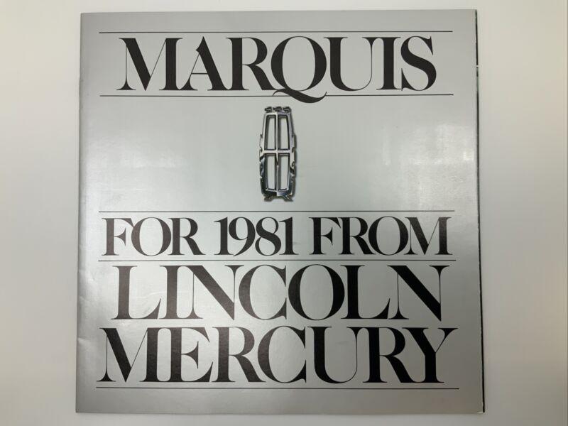 1981 Lincoln Mercury Marquis Brochure