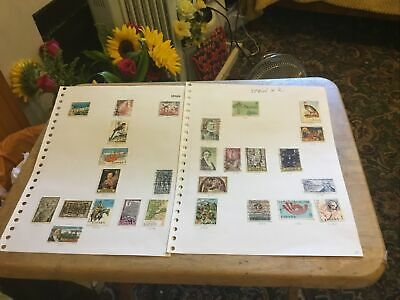 Spain X 2 Used Stamps Part Sheets