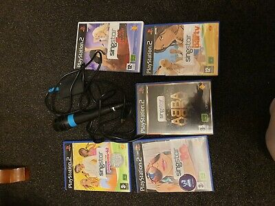 used playstation 2 micro phone with 5  games for sale  Shipping to South Africa