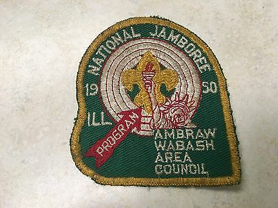 1950 National Jamboree Ambraw Wabash Green Contingent Patch