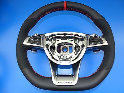 mercedes lenkrad c63 AMG steering wheel mopf performace facelift designo rot, gebraucht gebraucht kaufen  Esslingen