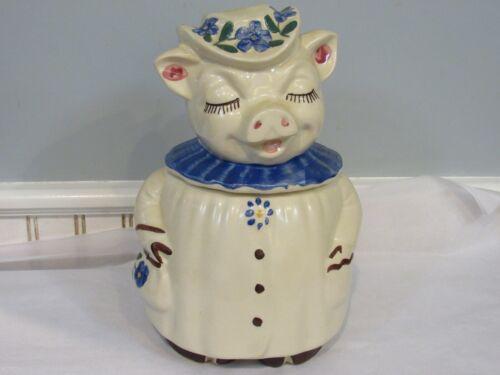 Vintage USA Winnie Pig Cookie Jar - Clover, Shamrock USA