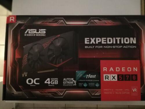 💥 Asus Radeon RX570 O4G Grafikkarte PCIe 4GB VR AMD Expedition mit Restgarantie