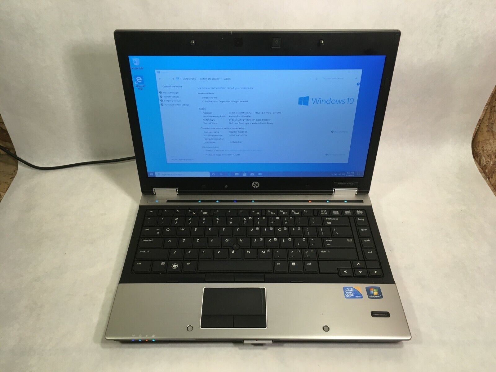 "Laptop Windows - HP EliteBook 8440p 14"" Laptop Intel i5 2.4GHz 4GB 250GB Windows 10"