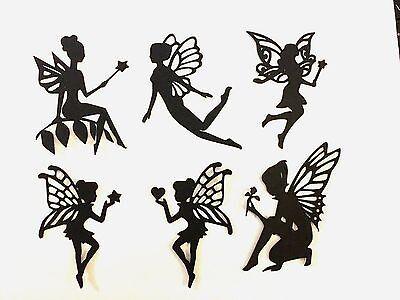 "12 MIXED 3"" FAIRY Die cut Embellishment Paper piecing 4 Jar lantern Paper crafts"