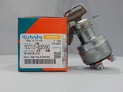 New Kubota Diesel Engine Ignition Key Switch 1e013-63590 Turf Mowerspower Unit