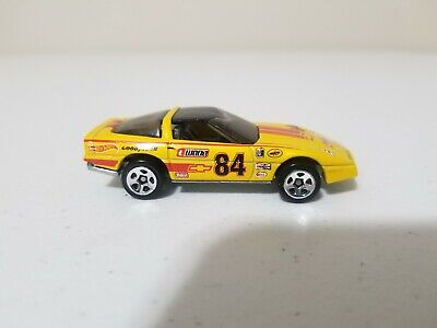 Hot Wheels Retro Series 80s Corvette Yellow *Loose* Target Exclusive