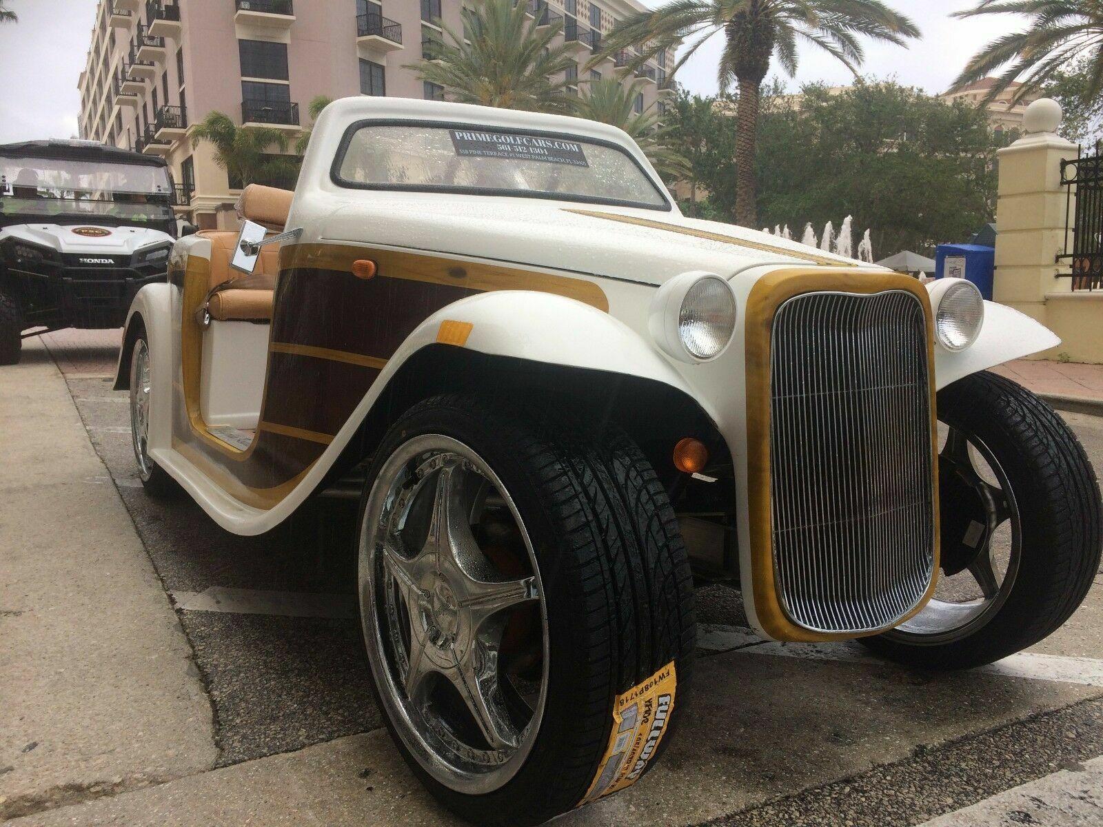 2016 acg california roadster Woody Golf Cart Street Legal Lsv 4 passenger seat