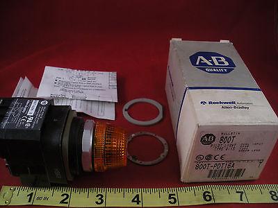 Allen Bradley 800t-pdt16a Ser T Pilot Light Switch 800t-pdt16 Amber Lens 120v