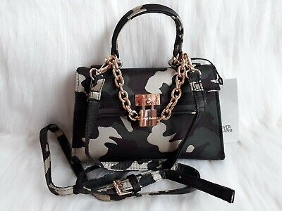 River Island Camouflage Print Mini Cross Body Purse Bag