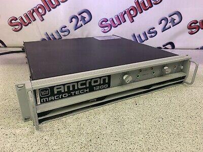 Crown AMCRON Macro-tech 1200 Professional Amplifier