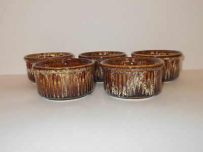 5 x Fosters Pottery Ramekins Cornish Cookware Lovely