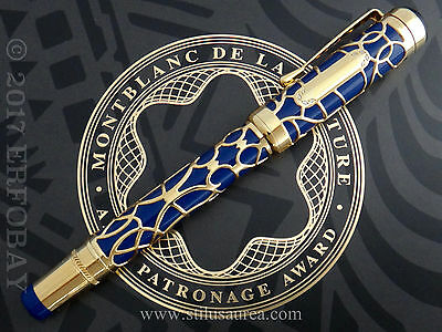 MONTBLANC PATRON of ART PRINCE REGENT 8 DE LA CULTURE ARTS PATRONAGE AWARD 1995